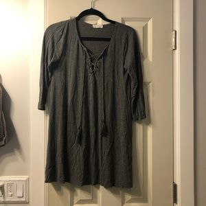 Grey Swing Dress from Tilly's